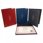 Certificate Covers 290g Blue Pk5 CCV3000