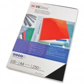 Acco HiGlssCvrA4 250gsmBlkPk100 CE020010