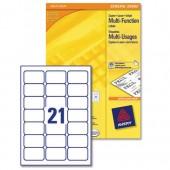 Avery MultiFcn Labels 70x42.3 Pk100 3652