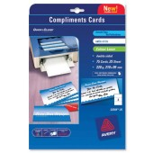 &Avery Copd Card Lsr Wht Satin C2359-25