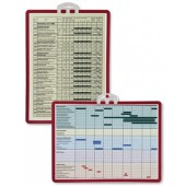 &Durable Information Panel A4 Red