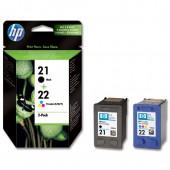 HP 21&22 Inkjet Cart Blk&Col PK2 SD367AE