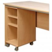 2*Tercel Post Mobile Shelf Unit Bch