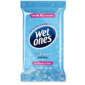 Wet Ones Be Fresh Family 40Wipes A/Bac