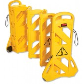 &Rubbermaid Portable mobile barrier 9S11