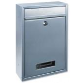 Tarvis Steel Mail Box Silver T02943