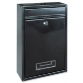 Tarvis Steel Mail Box Black T02942