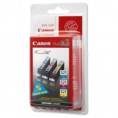 Canon CLI-521 Inkjet Cart C/M/Y PK3