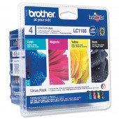 Brother Ink Cart Value Pk4 LC1100VALBP