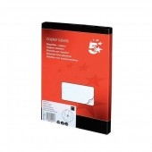 5 Star Labels Laser and Inkjet 4 per Sheet 105x149mm White [400 Labels]