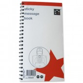 5 Star Sticky Message Books 320 Page