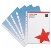 5 Star Office PnchPkt GlassClr TopPk100