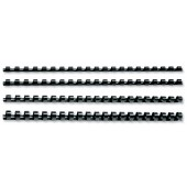 5 Star Plastic Combs  A4 6mm Black Pk100