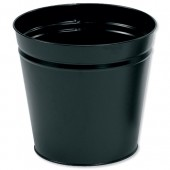 5 Star Round Metal Waste Bin 15L Black