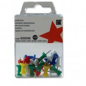 5 Star Push Pins Ast Opaque Pk20 925036