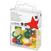 5 Star Indicator Pins 15mm head Ast Pk20