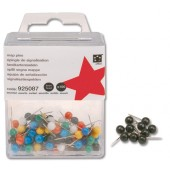 5 Star Map Pins 5mm Black Pk100 925095