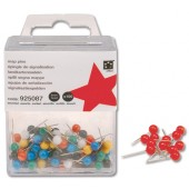 5 Star Map Pins 5mm Red Pk100 925125