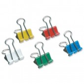5 Star Foldback Clips 19mm Ast Pk12