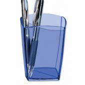 5 Star Office Pencil Pot Trans Blue