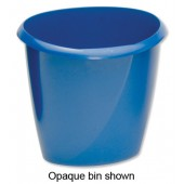 5 Star Office Bin 16 Litre Trans Blu