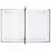 5 Star 2013 A4 2 Pages Per Day Diary Blk