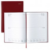 5 Star 2013 A4 2Day To Page Diary Red