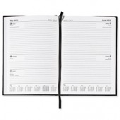 5 Star 2013 A4 2Day To Page Diary Black