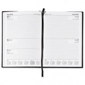 5 Star 2013 A5 2 Day To Page Diary Black