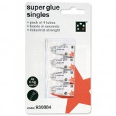 5 Star Superglue One Shot Tube 0.5g Pk4