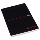 Black n Red Executive Desk Pad 90gsm Margin Ruled 100pp A4 Ref 100100861 [Pack 10]