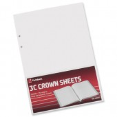 Crown Sheets Double Ledger F1 3C Pk100