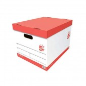 5 Star Storage Box Oyster White (Pack10)