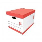 5 Star Storage Box Oyster White (Pack10)