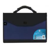 Concord Expanding Organiser File Polypropylene 24 Part Foolscap (Blue/Black) Ref 7111-PFL